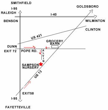 Sampson Nursery Location